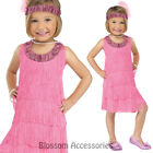 CK888 Pink Flapper 1920s Gatsby Girls Charleston Child Fancy Dress Up Costume