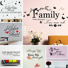 Wall Stickers! Quote Transfer Vinyl Decal Decor Interior Home Art Sticker Uk Y
