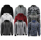 Mens Athletic Warm Soft Sherpa Lined Fleece Zip Up Sweater Jacket Hoodie