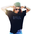Womens BASIC WITCH T-Shirt Fashion HALLOWEEN Costume Slogan Girls SLANG