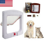 Dog Cat Flap Door With 4 Way Lockable for Small Medium Pets Entry & Exit US