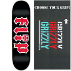 "Flip Skateboard Deck HKD 8.0"" Black/Red with GRIZZLY GRIPTAPE image"