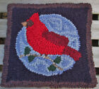 BEGINNER CARDINAL Primitive Rug Hooking KIT WITH #8 CUT WOOL STRIPS