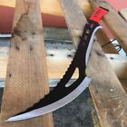 """24"""" RED/BLACK TACTICAL SURVIVAL HUNTING KNIFE Fixed Blade Machete Sword SHEATH C"""