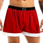Men Santa Christmas Holiday Fancy Cosplay Costume Boxer Shorts Panties Underwear