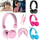 Kids Wired Stero Headphone On-Ear Headset Headband Earphone+Mic for Phone PC Mac