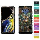 For Samsung Galaxy Note 9 Deer Hunting Camo Hybrid Rugged Armor Phone Case Cover