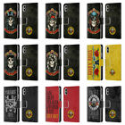 OFFICIAL GUNS N' ROSES VINTAGE LEATHER BOOK WALLET CASE FOR APPLE iPHONE PHONES
