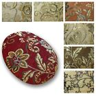 Flat Round Shape Cover*Damask Chenille Floor Seat Chair Cushion Case Custom*Wk2