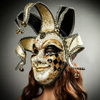 Unisex Luxury Jolly Jester Carnival Venetian Mask Masquerade Face Eye Mask NEW