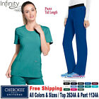 Cherokee Scrubs Set INFINITY Women's Round Neck Top  Pant 2624A/1124A