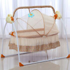 Electric Baby Crib Cradle Auto Swing Rocking Cot Sleeping Bed w/timer music TOP