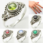 Handmade Ring ! 925 Solid Silver Natural Peridot Jewelry ! Womens Fashion Gift