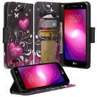 LG X Power 2 / Fiesta LTE / K10 Power / X Charge Credit IDCard Wallet Case Cover
