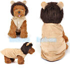 LOVELY Puppy Dog Cat Clothes Lion Winter Costume Coat Apparel Pet  Hoodie LS