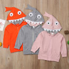 US 1-5Y Kids Baby Boys Girl Autumn Hoodie Top Hooded Zipper Coat Jacket Clothes