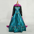 Women Princess Queen Gown Anna Cosplay Dress Costume Party Long Dress