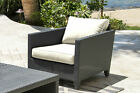 Panama Jack Outdoor Onyx Patio Chair with Cushion