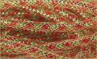 Deco Mesh Flex Tubing with Metallic Foil Red Lime Green Christmas 30 Yards  R...