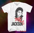 New Michael Jackson Bad 1988 Tour Retro White Vintage Mens T-Shirt image