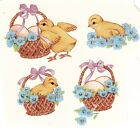 Easter Basket Yellow Chicks Select-A-Size Ceramic Waterslide Decals Xx image