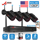 ANRAN Wireless Security Camera System 8CH 1080P 1TB HDD CCTV WIFI NVR Outdoor HD