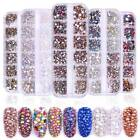 12 Grids/Sets Nail Glitter Sequins Mixed Round Chameleon Flake Nail Art Decor