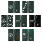 OFFICIAL NFL NEW YORK JETS LOGO LEATHER BOOK CASE FOR APPLE iPHONE PHONES