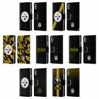 NFL PITTSBURGH STEELERS LOGO LEATHER BOOK WALLET CASE FOR APPLE iPHONE PHONES