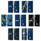 NFL LOS ANGELES CHARGERS LOGO LEATHER BOOK WALLET CASE FOR APPLE iPHONE PHONES