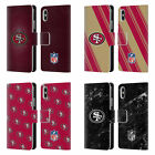 NFL 2017/18 SAN FRANCISCO 49ERS LEATHER BOOK CASE FOR APPLE iPHONE PHONES