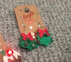 Light Up Christmas Tree or Chocolate Pudding Earrings Great Gift!