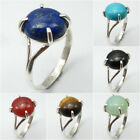 925 Solid Sterling Silver LAPIS LAZULI & Other Gemstones Ring ! Anniversary Gift