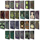 HEAD CASE DESIGNS AZTEC ANIMAL FACES 2 LEATHER BOOK CASE FOR SAMSUNG TABLETS