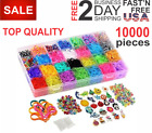 Rainbow Loom Rubber Bands 10000 Pc Refill Set Storage Case Organizer Beads Clips