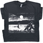 Bigfoot T Shirt Loch Ness Monster Ufo Weird Funny Cool Cryptozoology Men Women image