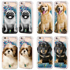 HEAD CASE DOG BREED SKY BLUE LIQUID GLITTER CASE FOR APPLE iPHONE SAMSUNG PHONES