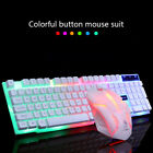 Colorful Crack LED Illuminated Backlit USB Wired Rainbow Gaming Keyboard+Mouse*