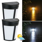 6LED Solar Power Wall Mount Light Outdoor Garden Path Way Fence Yard Patio Lamp
