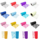 15cm 10 Yards Floral Lace Roll Chair Sashes Cover DIY Bows Wedding Table Runner