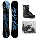 "NEW M8TRIX ""BLUE"" SNOWBOARD, BINDINGS, BOOTS PACKAGE - 157cm Wide"