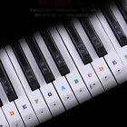 music keyboard piano stickers 37 49 54 61 88 key set removable stickers decal