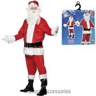 CA117 Santa Claus Suit Christmas Fancy Dress Costume Outfit - MISSING WIG