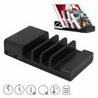 4 Port USB HUB Charging Dock Station Charger Stand Organizer For iPhone x Tablet