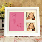 Baby Clay Handprint  Footprint Keepsake Photo Wall Mount Frame Kit