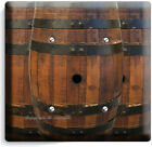 RUSTIC OLD WOOD FRENCH WINE BARREL LIGHT SWITCH OUTLET PLATE RANCH BARN HD DECOR