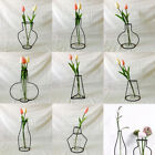 New Nordic Minimalist Abstract Vase Black Iron Brief Vase Flower Racks Ornaments