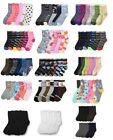 Внешний вид - 6 12 Pairs Girls Boys Kids Crew Socks Toddler Baby Casual Ankle Random Gift
