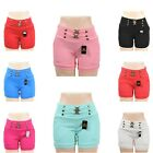 Slip on Women Casual Summer Denim Candy Color Jean Shorts Hot Pants US Size S-XL