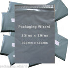 Strong Poly Mailing / Postal Bags 13ins x 19ins (330 x 480mm) Grey ~ Select Qty
